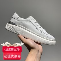 Low top shoes 38,39,40,41,42,43 Other / other Cattle hide (except cattle suede) Frenulum Round head Outdoor leisure shoes Pig skin The trend of youth daily Color matching Thick bottom spring and autumn rubber increase Sewing shoes Youth (18-40 years old) Sewing Middle heel (3-5cm) Pig skin