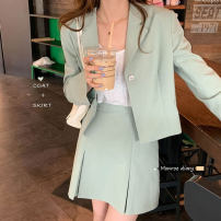 Fashion suit Spring 2021 S, M Green, pink 18-25 years old 30% and below