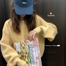 sweater Winter 2020 Average size Pitaya color, cream white, cream yellow, pumpkin orange Long sleeves Socket singleton  Regular other 30% and below Crew neck thickening commute Solid color Straight cylinder 18-24 years old