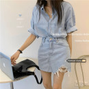Fashion suit Summer 2020 S. M, l, average size Shirt, skirt 18-25 years old 30% and below