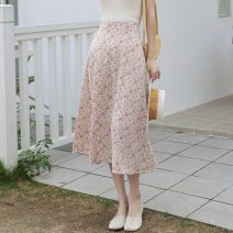 skirt Summer 2021 S,M,L,XL Orange, off white, purple, blue, black Mid length dress Versatile A-line skirt Decor 25-29 years old 91% (inclusive) - 95% (inclusive) Chiffon