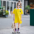Dress Yellow, pink female Other / other 120 cm, 120 cm, 120 cm, 120 cm, 120 cm, 120 cm, 120 cm, 120 cm, 120 cm, 120 cm, 120 cm Cotton 98% other 2% summer Korean version Cartoon animation cotton Straight skirt Class B