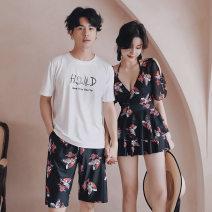 Yoga clothes M,L,XL Men's beach pants, women's swimsuit female QQY Short suit currency
