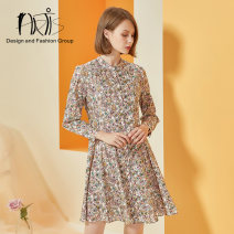 Dress Autumn of 2019 As shown in the figure 34 36 38 40 42 Short skirt 30-34 years old HRTIS AS1017012-030 More than 95% cotton Cotton 100%