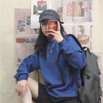 Sweater / sweater Winter of 2019 Blue, light purple, dark purple, black, red M,L,XL,2XL Long sleeves routine Socket singleton  Plush High collar easy commute routine Solid color Korean version