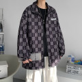 Jacket Other / other Youth fashion Dark purple, blue, green S. M, l, XL, 2XL, 3XL, XS plus small routine easy Other leisure autumn Long sleeves Wear out Hood tide teenagers routine Single breasted No iron treatment Closing sleeve lattice Plaid Color matching cotton