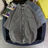 shirt Youth fashion Others S. M, l, XL, 2XL, XS plus small Apricot, grey, blue, black routine square neck Short sleeve easy Other leisure summer teenagers Cotton 65% polyester 35% tide 2021 lattice Plaid No iron treatment cotton Button decoration Easy to wear 50% (inclusive) - 69% (inclusive)