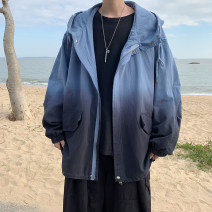 Jacket Other / other Youth fashion White, blue S. M, l, XL, 2XL, XS plus small routine easy Other leisure spring Long sleeves Wear out Hood tide youth routine Zipper placket 2021 Closing sleeve