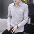 shirt Youth fashion Others S. M, l, XL, 2XL, 3XL, XS plus small Grey, khaki, green routine Pointed collar (regular) Long sleeves Self cultivation Other leisure Four seasons teenagers Polyester 54.4% viscose 29.6% cotton 16% tide 2021 No iron treatment cotton Easy to wear