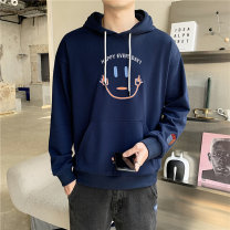 Sweater Youth fashion Others Dark blue, black M. L, s, XL, 2XL, 3XL, XS plus small, 4XL, 5XL other Socket routine Hood spring easy leisure time Large size Youthful vigor raglan sleeve other cotton simple style