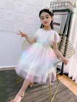 Dress white female Other / other 120cm,130cm,140cm,150cm Other 100% summer princess Long sleeves Solid color polyester fiber Princess Dress Class B 14, 3, 5, 9, 12, 7, 8, 6, 2, 13, 11, 4, 10 Chinese Mainland Beijing Beijing