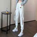 Casual pants Black (thin in spring and Autumn), light gray (thin in spring and Autumn), white (thin in spring and Autumn) M. L, XL, 2XL, wholesale price more than 500 pieces from 28 Spring 2021 trousers Haren pants commute routine 18-24 years old 30% and below Cotton blended fabric pocket cotton