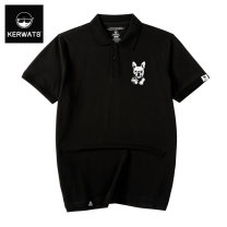 Polo shirt KERWATS Youth fashion thin Black and dark green Baolan M L 2XL 3XL 1XL 4XL 5XL 6XL easy Other leisure summer Short sleeve KWS180002-2 tide routine Large size Cotton 100% Animal design cotton printing Summer of 2018 Pure e-commerce (online only)