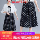 Casual pants black 3XL,4XL,5XL,2XL Summer of 2019 Cropped Trousers Wide leg pants High waist Sweet 18-24 years old 81% (inclusive) - 90% (inclusive) Qiyilian 05236 dot skirt other printing and dyeing