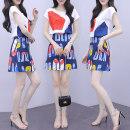 Dress Summer 2021 Picture color S,M,L,XL,XXL Short skirt Two piece set Short sleeve