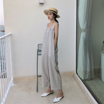 Casual pants Jumpsuits Average size Summer of 2018 trousers Jumpsuit High waist commute routine 18-24 years old six thousand six hundred and four Retro