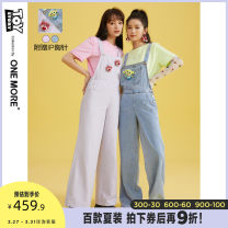 Jeans Spring 2021 Purple denim blue purple presale 1 (April 4) Purple presale 2 denim blue presale 1 (April 4) denim blue presale 2 155/80A/XS 160/84A/S 165/88A/M trousers Natural waist rompers routine 25-29 years old Old washing light colour A1OA1203276 one more Other 100.00%