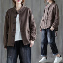 Women's large Autumn 2020 Picture color Large L [100-150 Jin recommended], large XL [150-200 Jin recommended] Jacket / jacket singleton  commute easy thick Cardigan Long sleeves literature stand collar routine 25-29 years old Button