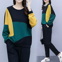 Women's large Spring 2021 black Big l [recommended 90-110 kg], big XL [recommended 111-125 kg], big 2XL [recommended 126-144 kg], big 3XL [recommended 145-160 kg], big 4XL [recommended 161-179 kg], big 5XL [recommended 180-200 kg] Other oversize styles singleton  commute easy moderate Socket routine