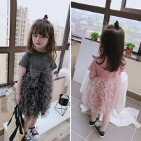 Dress Dark grey (short sleeve), pink (short sleeve), dark grey (long sleeve), pink (long sleeve), white (long sleeve), light grey (long sleeve) female Other / other The recommended height is about 80cm, 90cm, 100cm, 110cm, 120cm and 130cm respectively Other 100% summer xt1052