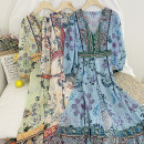 Lace / Chiffon Spring 2021 Apricot coat, green coat, blue coat, apricot suit, green suit, blue suit Average size Long sleeves commute Cardigan Two piece set easy Medium length Decor Other / other printing Korean version 31% (inclusive) - 50% (inclusive)
