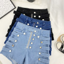 Jeans Spring 2021 S,M,L,XL shorts High waist Wide legged trousers routine Zipper, button, multiple pockets Other / other