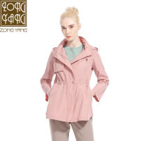 Windbreaker Spring of 2019 BM S M L XL Long sleeves routine Medium length commute zipper Hood routine Solid color Self cultivation Ol style Zongyang BCI2ZF5626 30-34 years old Stitching zipper 51% (inclusive) - 70% (inclusive) polyester fiber Same model in shopping mall (sold online and offline)