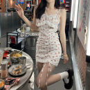 Dress Summer 2021 Average size Short skirt singleton  Sleeveless commute High waist Broken flowers Socket One pace skirt other camisole 18-24 years old Type H Korean version Lace other other