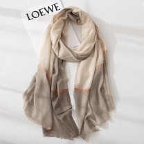 Scarf / silk scarf / Shawl polyester Spring and autumn, summer and winter female Scarves / scarves decorate Korean version rectangle Young and middle-aged students Color matching printing 100cm 190cm Less than 30% Marte&Joven Autumn 2020 no