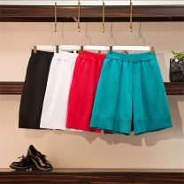 Women's large Summer of 2019, spring of 2019 White [quality version], red [quality version], fluorescent green [quality version], black [quality version] M [90 ~ 100 Jin], l [100 ~ 120 Jin], XL [120 ~ 140 Jin], 2XL [140 ~ 160 Jin], 3XL [160 ~ 180 Jin], 4XL [180 ~ 200 Jin] trousers singleton  commute