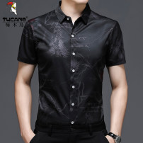 shirt Fashion City Tucano / woodpecker 105/M 110/L 115/XL 120/XXL 125/3XL Blue black red routine other Short sleeve standard Other leisure summer A-DEJ2606-BX middle age Polyester fiber 94.6% polyurethane elastic fiber (spandex) 5.4% Business Casual 2021 other Spring 2021 other other other
