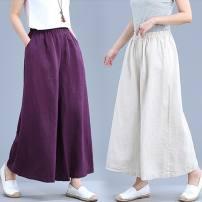 Casual pants M [100-115 kg], l [116-130 kg], XL [131-145 kg], XXL [146-160 kg] Summer 2021 Cropped Trousers original Thin money 51% (inclusive) - 70% (inclusive) cotton cotton
