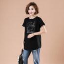 T-shirt black L,XL,2XL,3XL,4XL Summer 2020 Short sleeve Crew neck easy Regular commute cotton 71% (inclusive) - 85% (inclusive) Korean version