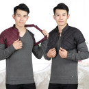 Vest / vest other Others M [90-115 Jin], l [115-130 Jin], XL [130-145 Jin], 2XL [145-165 Jin] Purplish red, black Home standard Cotton vest Plush and thicken winter stand collar old age 2019 Straight hem polyester fiber Silk like cotton More than 95%