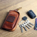 key case cowhide Other / other Black [imported cortex] yellowish brown Limited red [mad horse skin] dark brown [mad horse skin] blue [mad horse skin] reddish brown discoloration [mad horse skin] black [mad horse skin] green [mad horse skin] red green blue black brand new zipper Solid color youth fold