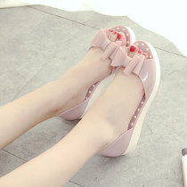 Sandals If you are fat, you should be a yard wider. If you are not fat, you should collect them according to the standard size. Gift 36 37 38 39 40 Pink gray blue black Other / other plastic cement Baotou Flat bottom Flat heel (1cm or less) Summer of 2018 Trochanter daily Shallow bow muffin heel