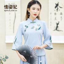 jacket Spring 2021 M L XL 2XL 3XL 4XL 5XL QZF21A206947 Love Princess Cotton 65% flax 35% Pure e-commerce (online only)