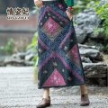 skirt Summer 2021 Average size blue Mid length dress commute Natural waist A-line skirt Decor QZF21B207696 More than 95% Love Princess other printing ethnic style Other 100% Pure e-commerce (online only)