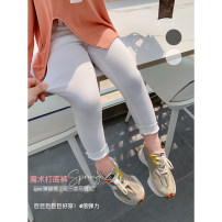 trousers Other / other female 80, 90, 100, 110, 120, 130, 140, 150 Black, white, white (presale 3.18) spring and autumn Ninth pants leisure time There are models in the real shooting Casual pants Leather belt middle-waisted other Don't open the crotch
