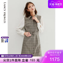 Dress Autumn 2020 brown 155/76A/S 160/80A/M 165/84A/L 170/88A/XL 175/92A/XXL Middle-skirt singleton  Nine point sleeve Polo collar High waist other Big swing 35-39 years old Lance from 25 Splicing XXLCBC18WOP088AA More than 95% other Other 100% Same model in shopping mall (sold online and offline)