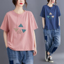 Women's large Summer 2020 T-shirt singleton  commute easy thin Socket Short sleeve literature Crew neck routine cotton routine Other / other