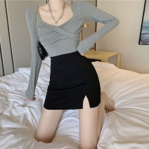 skirt Spring 2021 S,M,L Graph color Short skirt commute High waist skirt Type A 18-24 years old Korean version