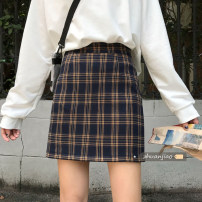 skirt Spring 2021 S,M,L Short skirt commute High waist A-line skirt lattice Type A 18-24 years old 71% (inclusive) - 80% (inclusive) other Other / other polyester fiber Korean version