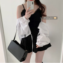 Other suits Summer 2021 18-25 years old Other / other polyester fiber Black sling, white sling, black skirt, white skirt, white sunscreen, pink sunscreen Average size