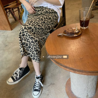skirt Summer 2021 Average size Picture color Mid length dress commute High waist A-line skirt Leopard Print Type A 18-24 years old 71% (inclusive) - 80% (inclusive) other Other / other polyester fiber Korean version