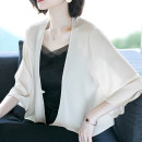 short coat Summer 2020 M,L,XL,2XL,3XL three quarter sleeve routine Thin money singleton  Shawl type commute other other Solid color 40-49 years old 51% (inclusive) - 70% (inclusive) Asymmetry, 3D polyester fiber polyester fiber