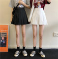 skirt Summer 2021 S,M,L White, black Short skirt commute High waist Pleated skirt Solid color Type A 18-24 years old 30% and below other cotton fold Korean version