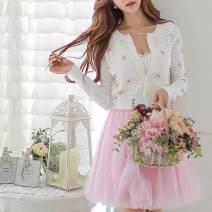 skirt Summer 2020 S,M,L Versatile white, sweet pink
