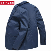 man 's suit Fashion City thin 170/M 175/L 180/XL 185/XXL 190/XXXL Polyamide fiber (nylon) 67% cotton 28% polyurethane elastic fiber (spandex) 5% Spring of 2019 Self cultivation Double breasted Other leisure No slits youth Long sleeves spring routine like a breath of fresh air Casual clothes Round hem