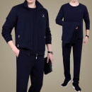 Sports suit OZ8022 Zhenrongfu male L (less than 120 kg recommended), XL (120-140 kg recommended), 2XL (140-155 kg recommended), 3XL (155-170 kg recommended), 4XL (170-185 kg recommended), 5XL (185-200 kg recommended) Long sleeves stand collar trousers Cardigan Spring 2021 Sports & Leisure ventilation